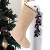 Burlap Christmas Stocking - Island Life Monograms