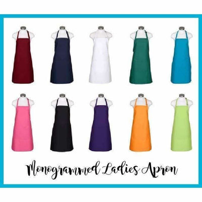 Monogrammed Aprons - Island Life Monograms