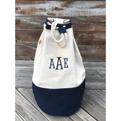 Canvas Laundry Bag - Island Life Monograms