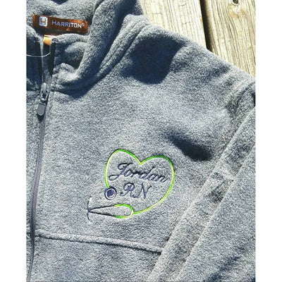 Monogrammed Nurses Fleece Jacket - Island Life Monograms
