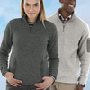 Charles River Heathered Fleece Pullover Quarter Zip - Womans