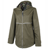 New Englander Rain Jacket with Printed Lining - Charles River - Olive