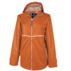 New Englander Rain Jacket with Printed Lining - Charles River - Orange