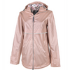 New Englander Rain Jacket with Printed Lining - Charles River - Rose Gold