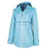 New Englander Rain Jacket with Printed Lining - Charles River - Sky Blue