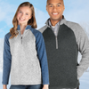 Charles River Quarter Zip Blocked Heather Fleece - Mens