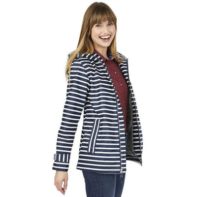 Charles River Striped Rain Jacket - Island Life Monograms
