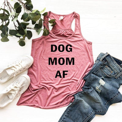 Dog Mom Af Tank - Island Life Monograms