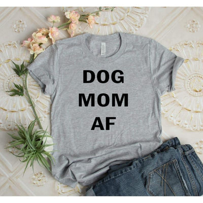 Dog Mom AF Shirt - Island Life Monograms