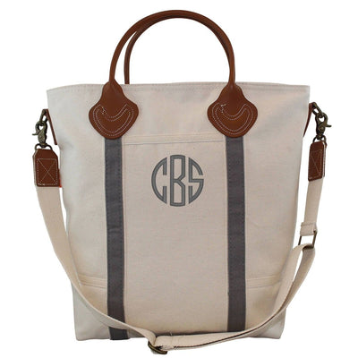 Grey Canvas Flight Bag - Island Life Monograms