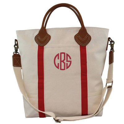 Red Canvas Flight Bag - Island Life Monograms