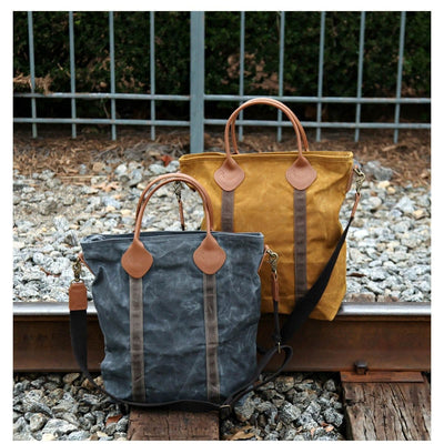 Waxed Canvas Flight Bag - Island Life Monograms