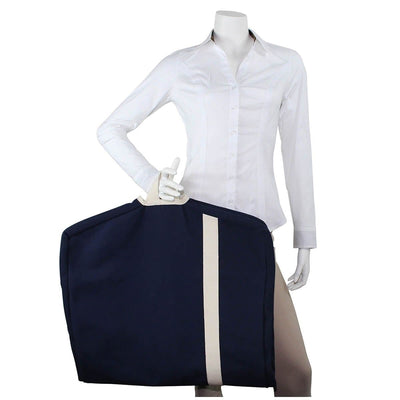 Navy Canvas Garment Bag - Island Life Monograms