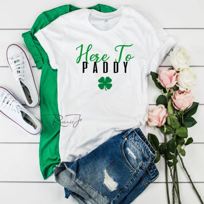 St Patricks Day Here to Paddy T - Island Life Monograms