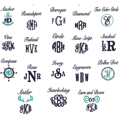 Towel Set - 8 Piece Navy - Island Life Monograms