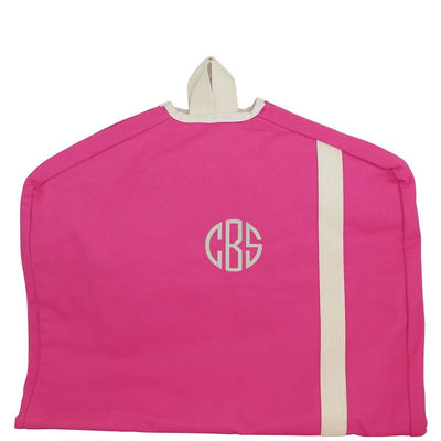 Pink Canvas Garment Bag - Island Life Monograms