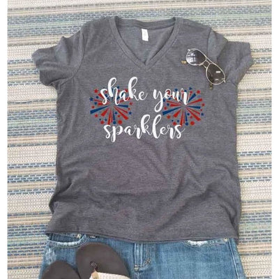 Fourth of July Shake Your Sparklers Shirt - Island Life Monograms