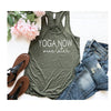 Yogo Now Wine Later Tank - Island Life Monograms