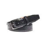 Genuine Glazed Python - Black