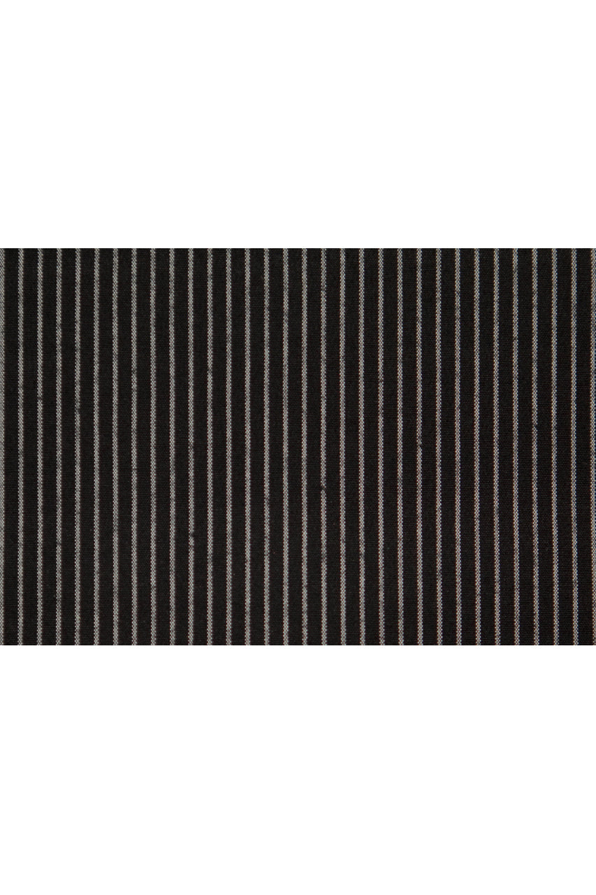Monterey Flat Front Short - Pitch Black Chalk Stripe