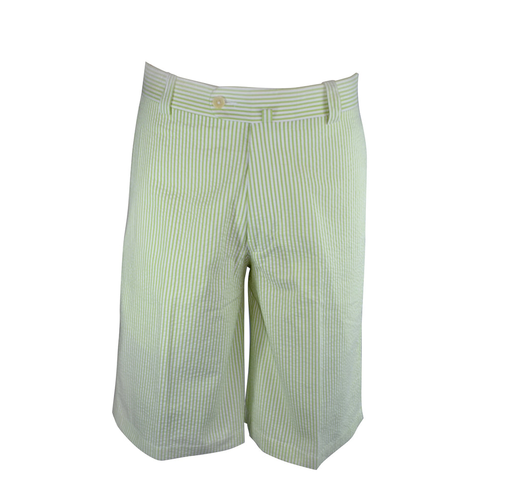Monterey Flat Front Shorts - Lime