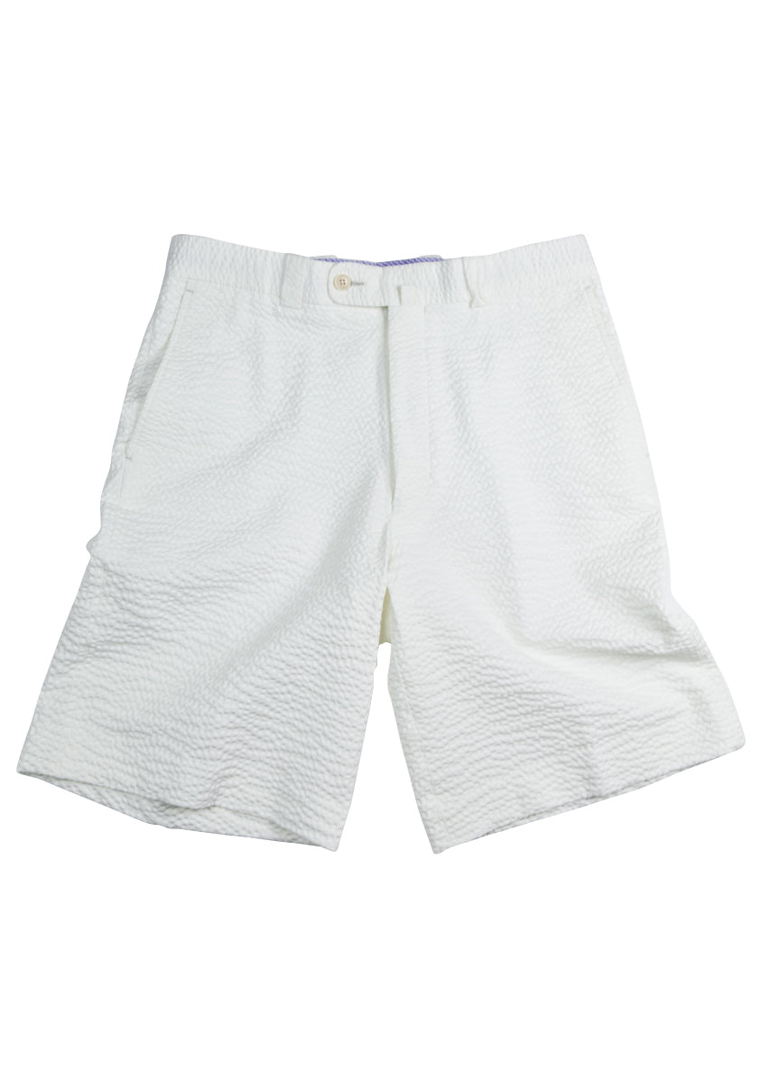 Monterey Flat Front Short - Ivory White Tech