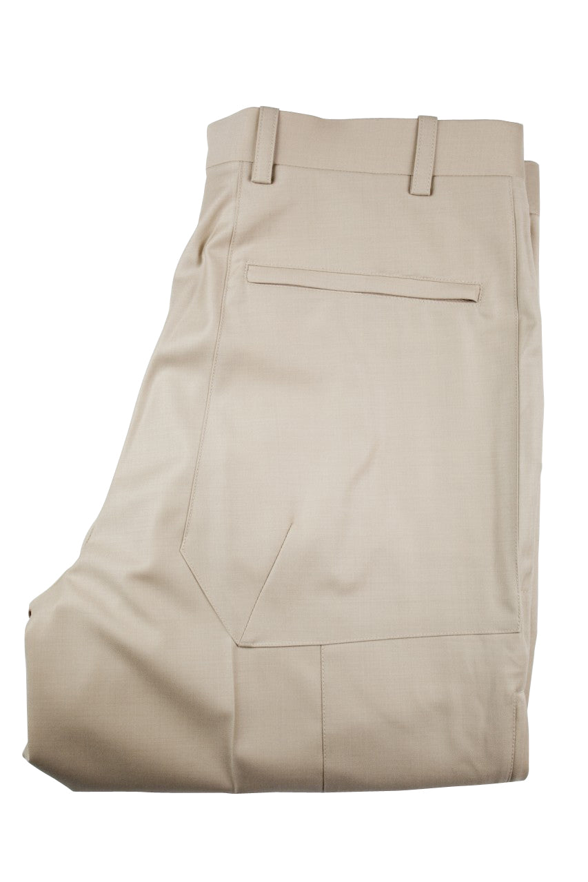 Aspen Flat Front Trouser - Stone - Light Tan
