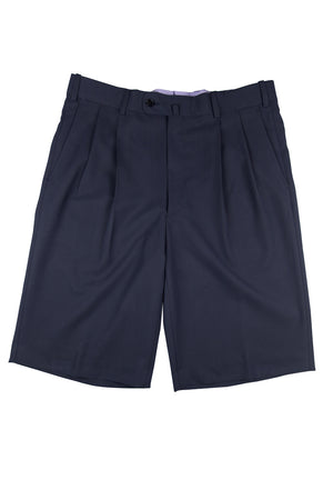 Montecito Pleated Gentlemans Walk Short - Ink Blue Microfiber