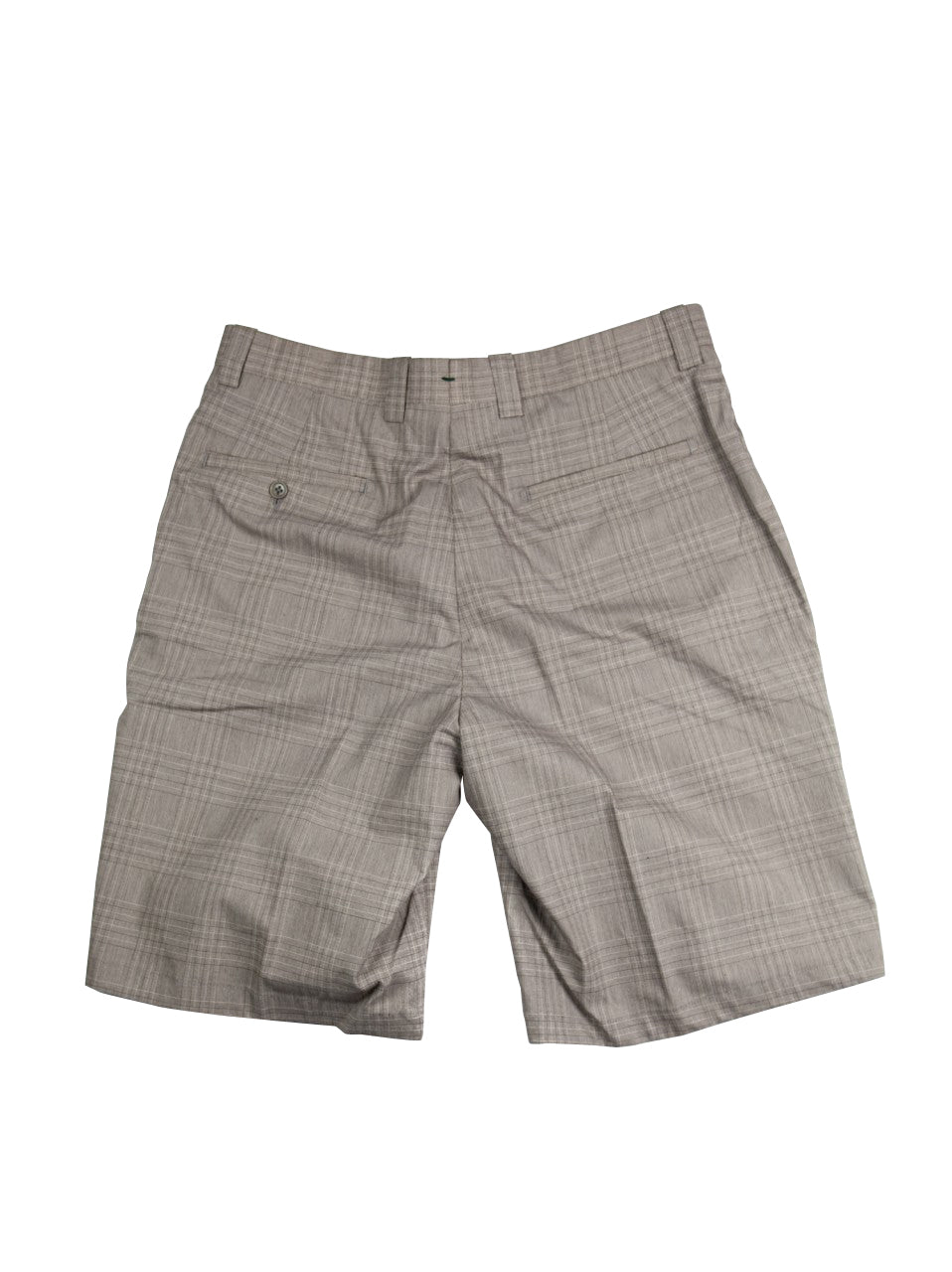 Monterey Flat Front Short - Clay/Brown Cream Plaid