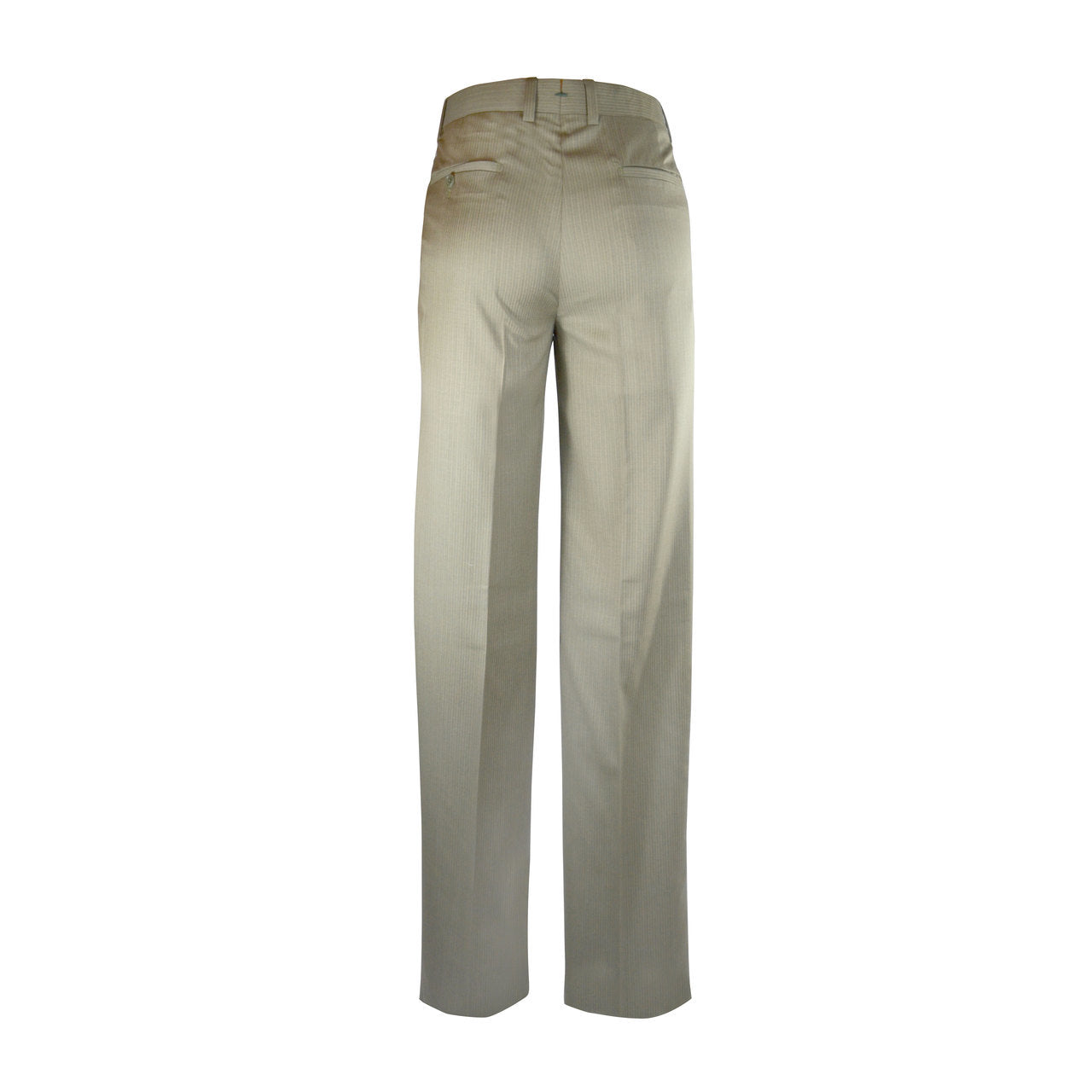 Newport Pleated Front Trouser - Tan with Peach Stripe