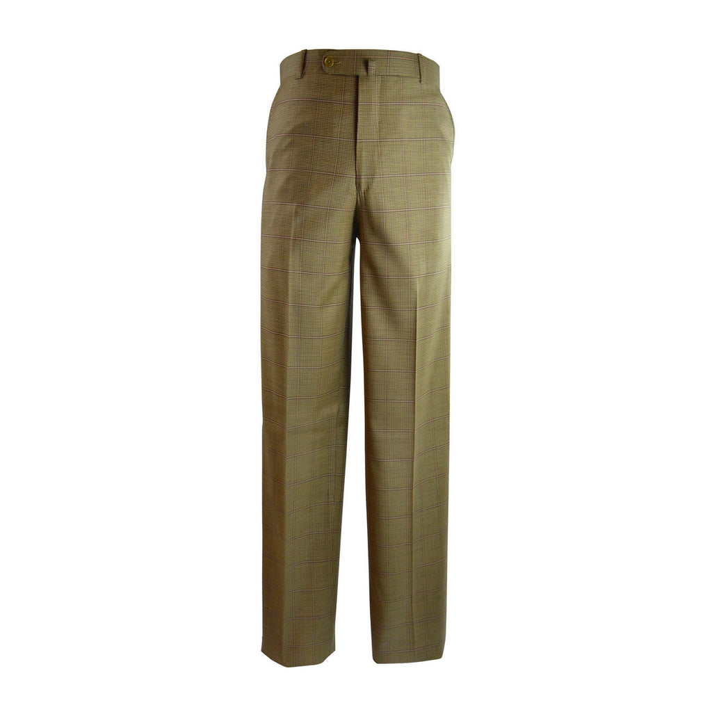 Laguna Flat Front Trouser - Saddle