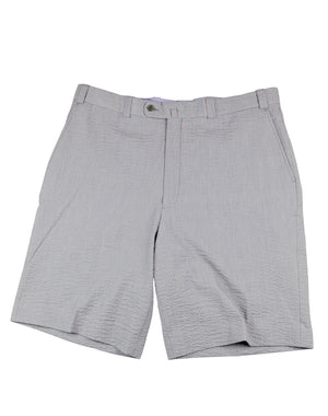 Monterey Flat Front Short - Light Grey Tech