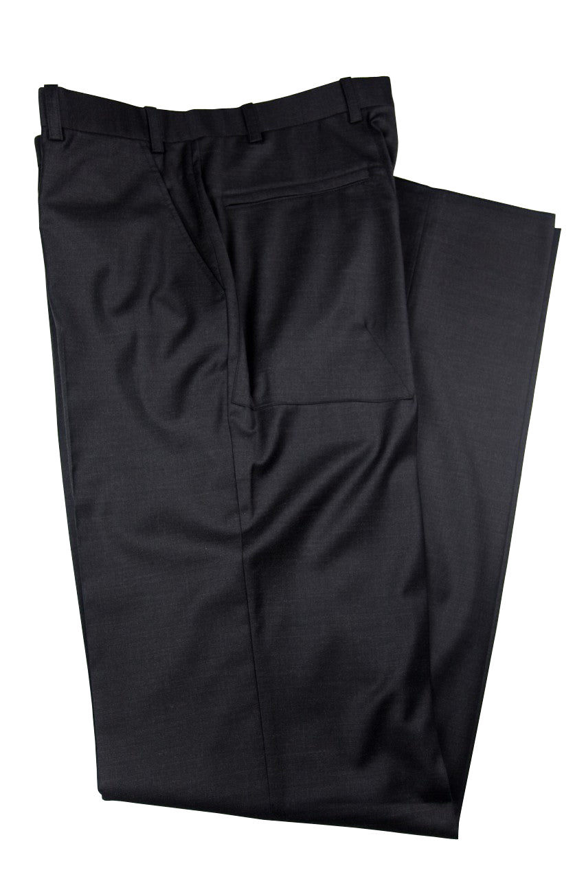 Aspen Flat Front Trouser with patch and zip pockets  - Charcoal Grey