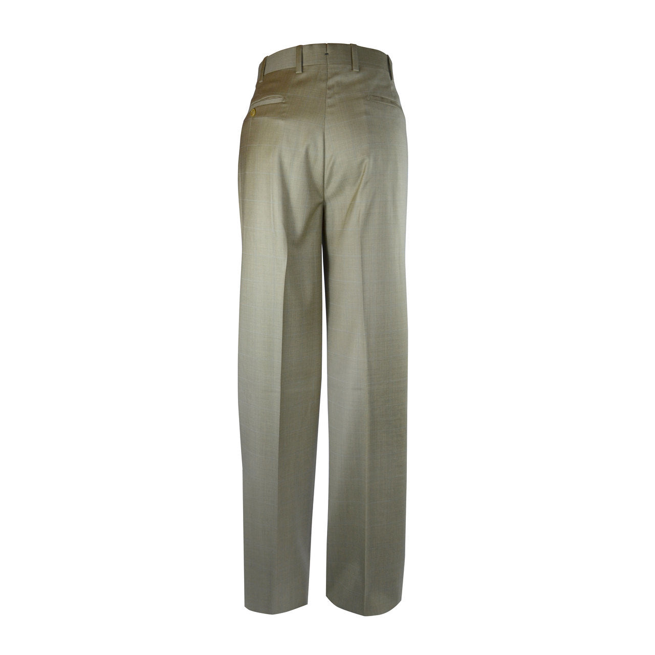 Newport Pleated Front Trouser - Gold Windowpane