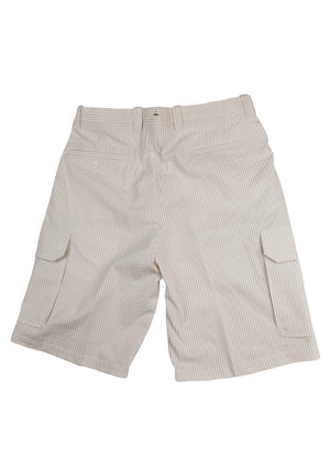 Del Mar 6 Pocket Cargo - Khaki & White