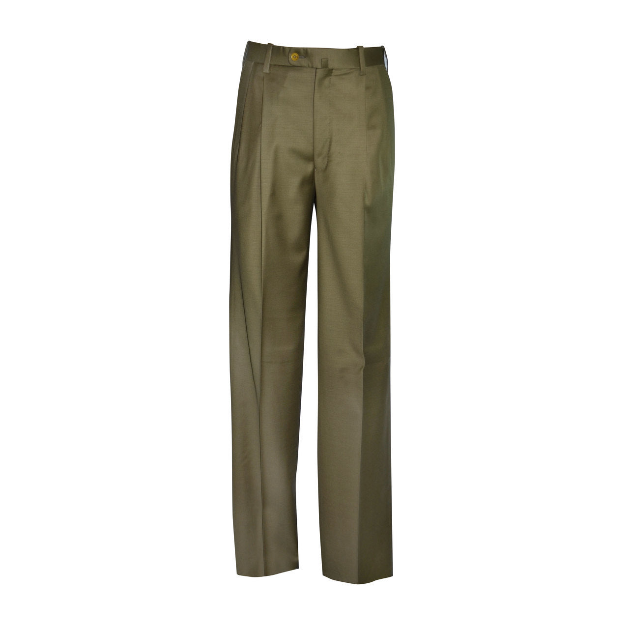 Newport Pleated Front Trouser - Moss