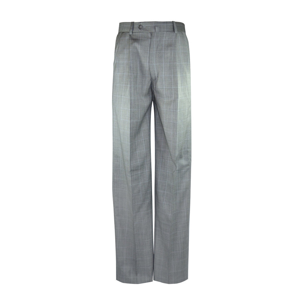 Newport Pleated Front Trouser - Grey Windowpane
