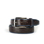 Genuine Matte Crocodile Belt - Brown