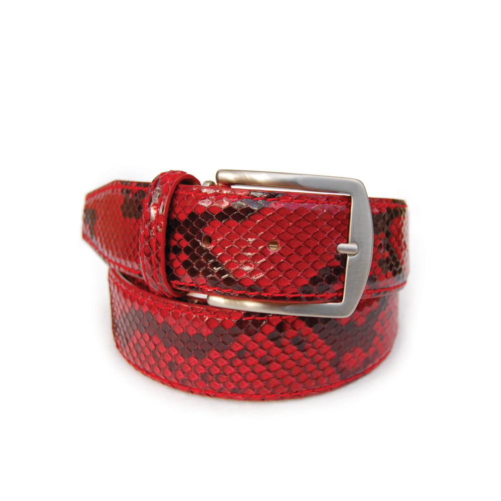 Genuine Glazed Python - Red