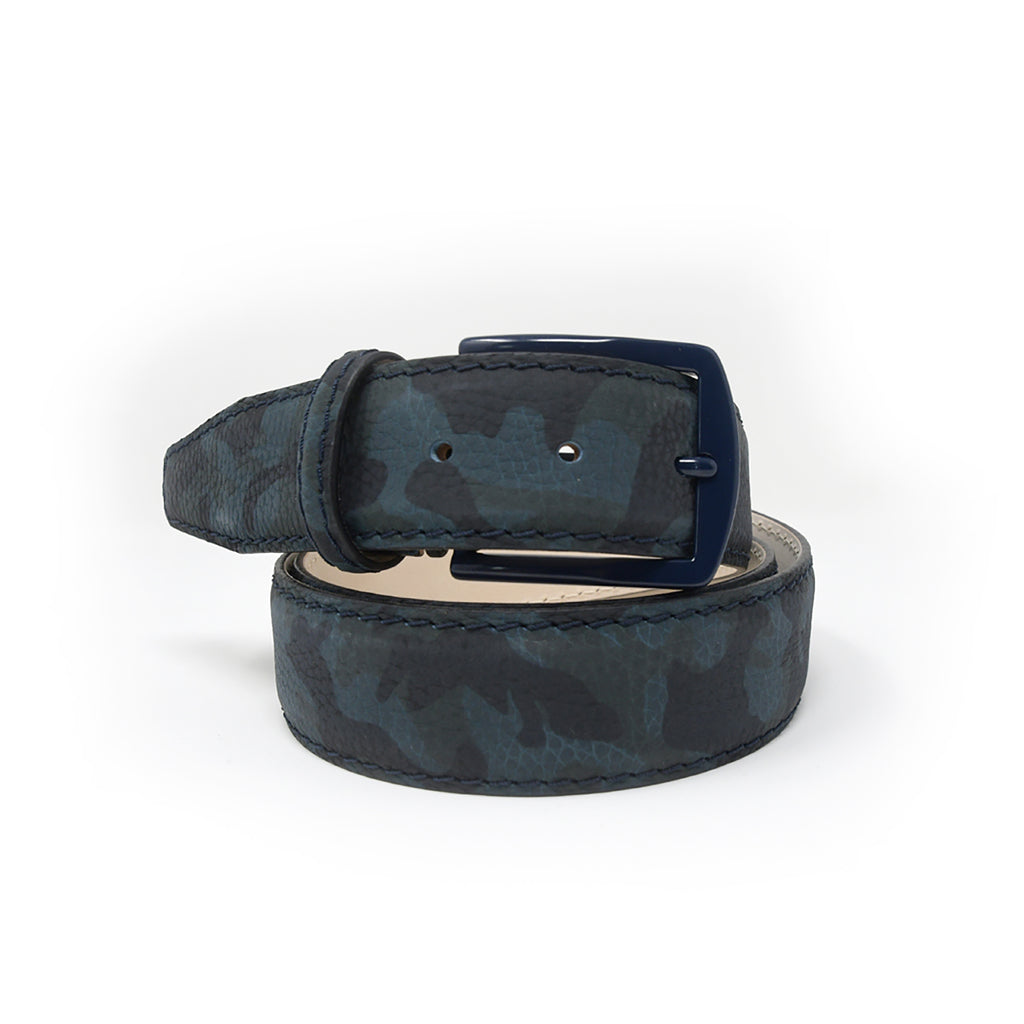 Pebble Grain Belt - Camo - Blue