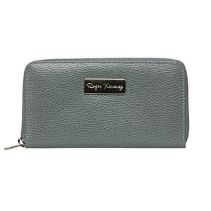 Ladies Pebble Clutch - Gray
