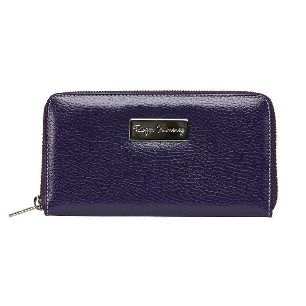 Ladies Pebble Clutch - Purple