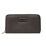 Ladies Saffiano Clutch - Brown