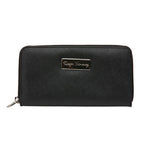 Ladies Saffiano Clutch - Black