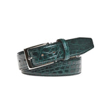 Genuine Glazed Crocodile Belt - Green