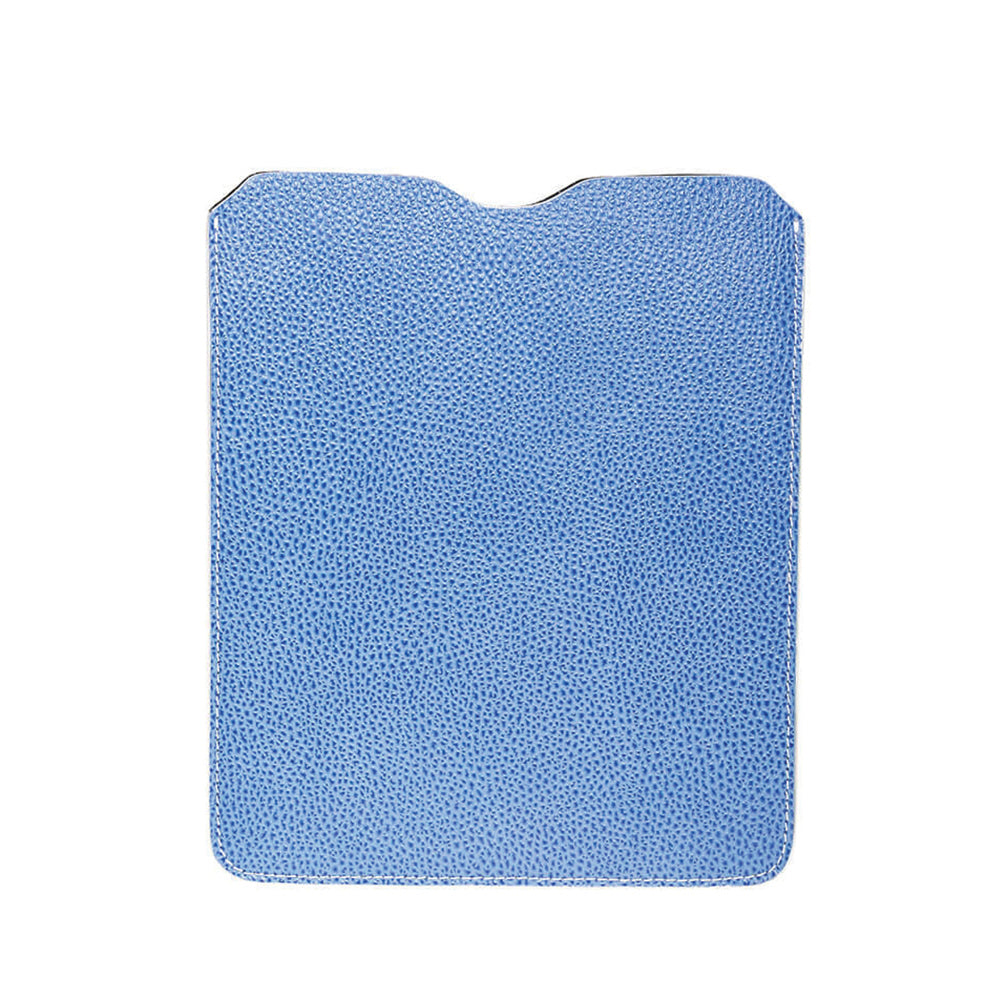 Leather iPad Sleeve - Pebble Blue