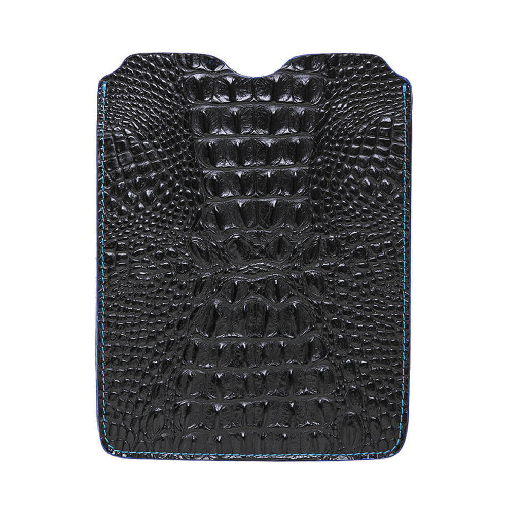 Leather iPad Sleeve - Mock Croc Black