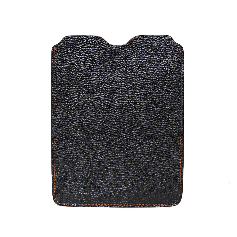 Leather iPad Sleeve - Pebble Black