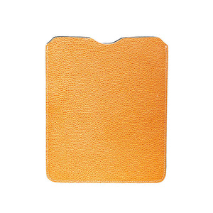 Leather iPad Sleeve - Pebble Yellow