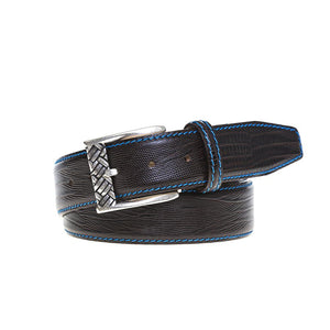 Faux Lizard Belt - Brown